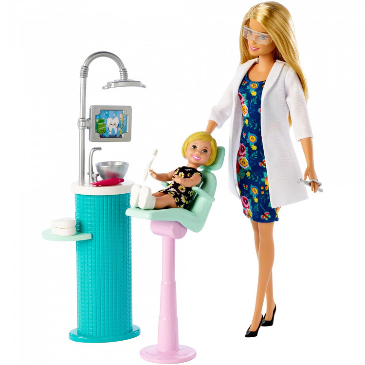 Барбі Дантист Barbie Careers Dentist Doll and Playset, Blonde