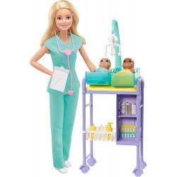 Кукла Барби Я могу быть Педиатр Barbie Baby Doctor Playset with Blonde Doll