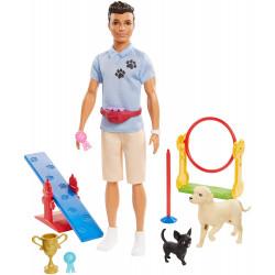 Игровой набор Барби Кукла Кен дрессировщик Barbie Ken Dog Trainer Playset