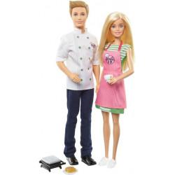 Набор кукол Барби и Кен повара в кафе Barbie & Ken Baking and Cooking Cafe