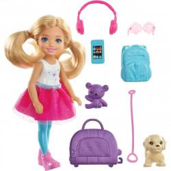 Кукла Барби Челси и набор для путешествий Barbie Travel Chelsea Doll
