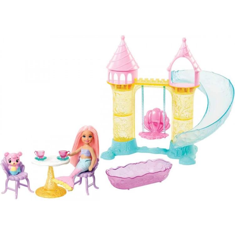Игровой набор Барби Дримптопия Замок русалочки c куклой Челси Barbie Dreamtopia Chelsea Mermaid Playground Playset
