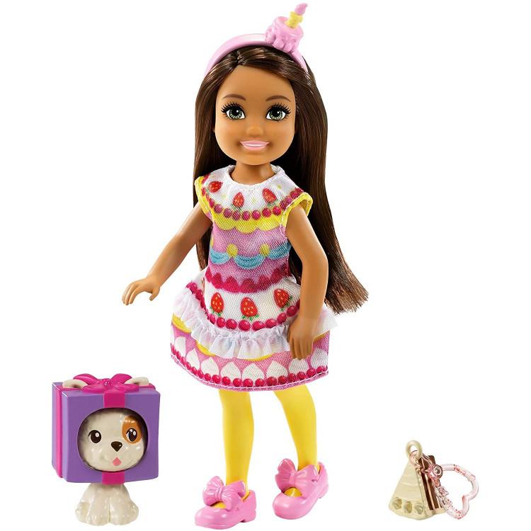 Лялька Барбі Челсі у костюмі Тістечка Barbie Club Chelsea Dress-Up Doll in Cake Costume