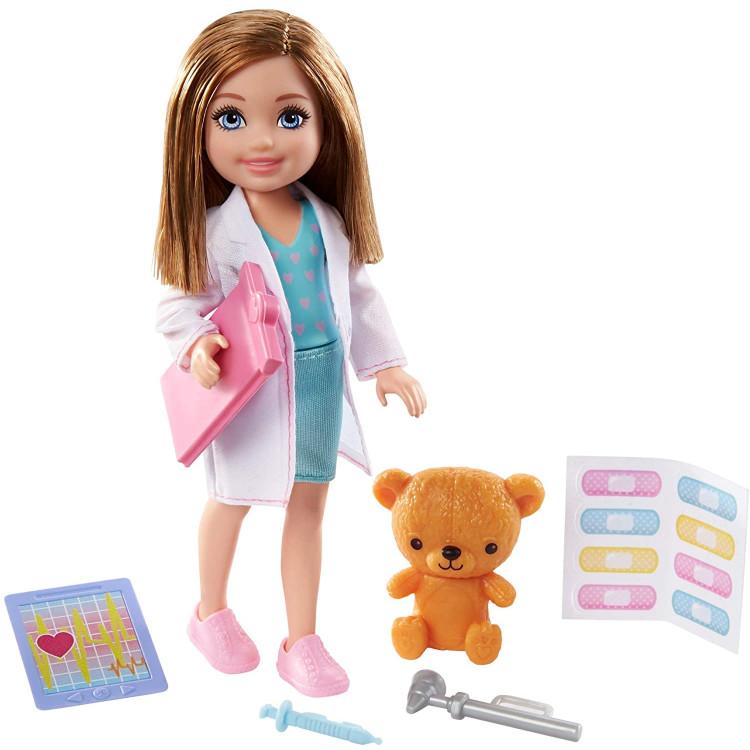 Лялька Барбі Челсі Я можу бути Лікар Barbie Chelsea Can Be Playset with Blonde Doctor Doll