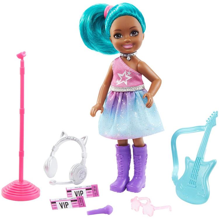 Лялька Барбі Челсі Я можу бути Рок-зірка Barbie Chelsea Can Be Playset with Blue Hair Rockstar Doll