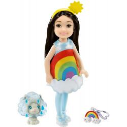 Кукла Барби Челси в костюме Радуги Barbie Club Chelsea Dress-Up Doll in Rainbow Costume