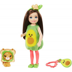 Кукла Барби Челси в костюме авокадо Barbie Club Chelsea Dress-Up Doll in Avocado Costume