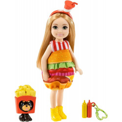 Кукла Барби Челси в костюме Бургера Barbie Club Chelsea Dress-Up Doll in Burger Costume