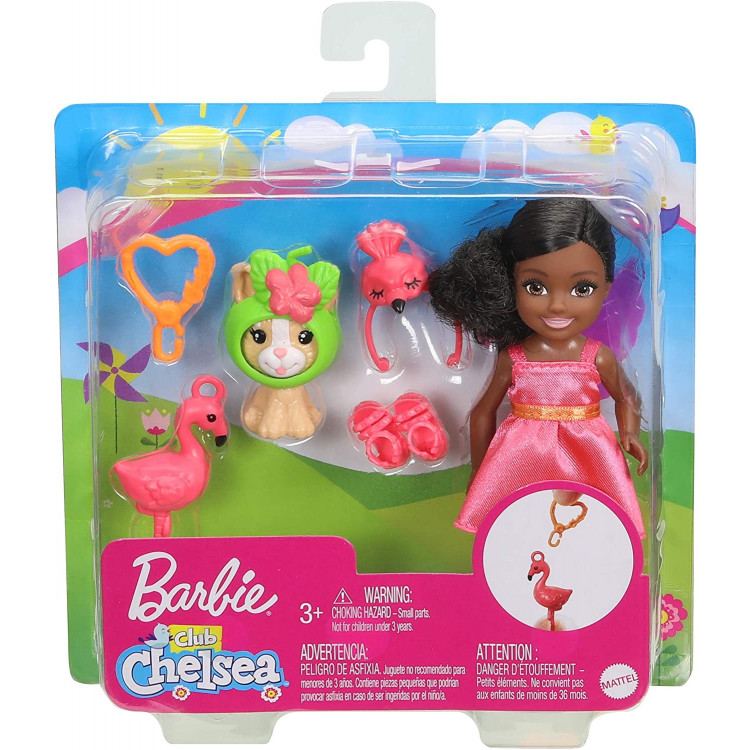 Кукла Барби Челси в костюме фламинго Barbie Club Chelsea Dress-Up Doll in Flamingo Costume