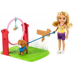 Игровой набор Кукла Барби Челси Дрессировщик собак Barbie Chelsea Can Be Dog Trainer Playset