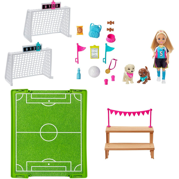 Игровой набор Барби Кукла Челси футболистка Barbie Dreamhouse Adventures Chelsea Doll with Soccer Playset