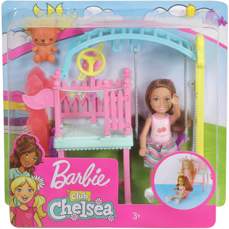 Игровой набор Кукла Барби Челси Игровая площадка Barbie Club Chelsea Doll and Swing Set Playset