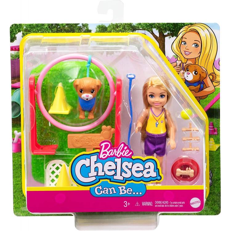 Ігровий набір Лялька Барбі Челсі дресирувальник собак Barbie Chelsea Can Be Dog Trainer Playset