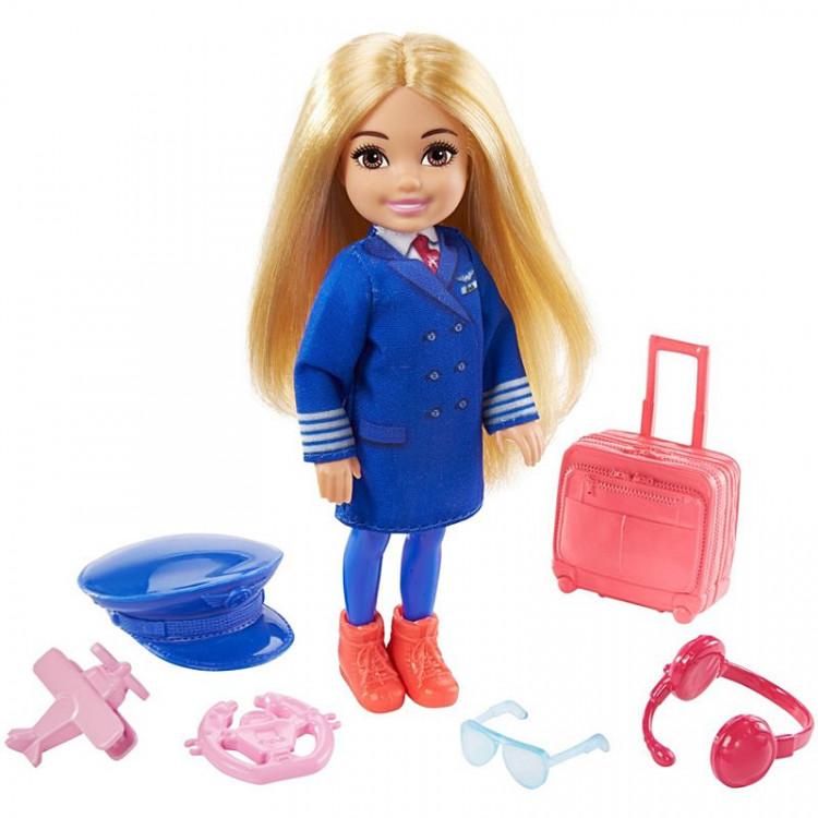 Кукла Барби Челси Я могу быть Пилот Barbie Chelsea Can Be Playset with Blonde Pilot Doll