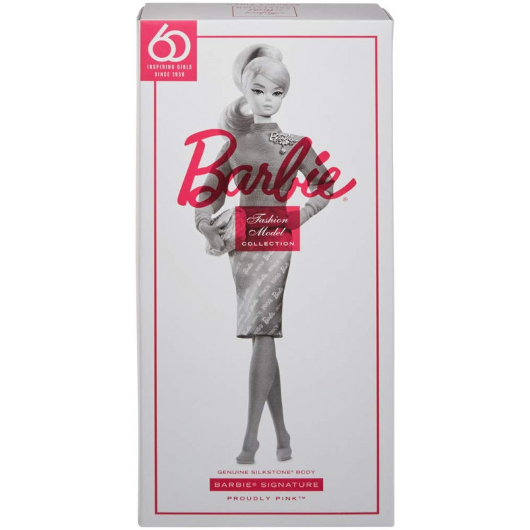 Лялька Барбі колекційна Велично рожева Barbie 60th Anniversary Silkstone Proudly Pink Doll