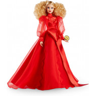 Кукла Барби коллекционная 75-летие Mattel Barbie Collector 75th Anniversary Doll in Red Chiffon Gown, Blonde