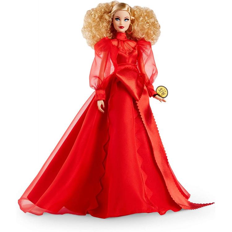 Лялька Барбі колекційна 75-річчя Mattel Barbie Collector 75th Anniversary Doll in Red Chiffon Gown, Blonde