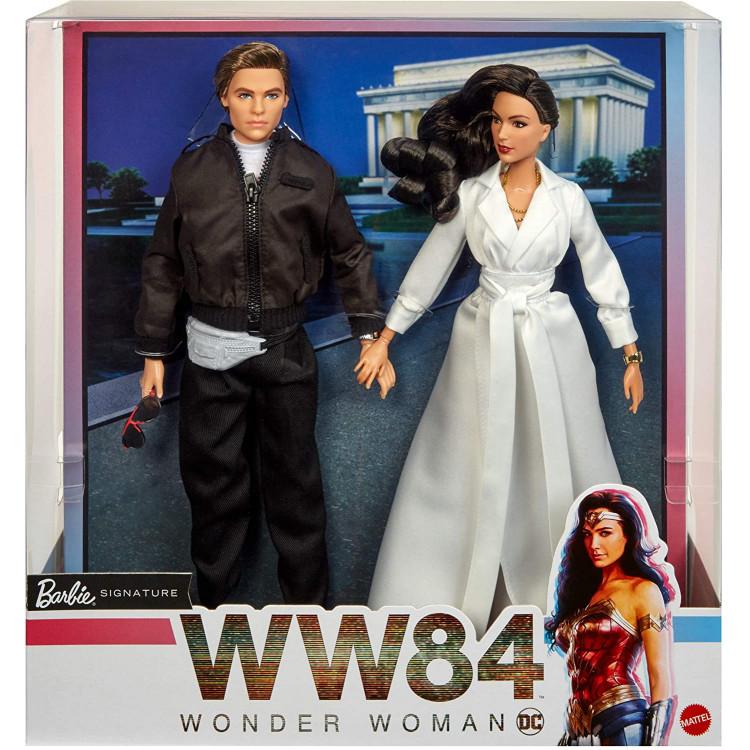Набор коллекционных кукол Барби Чудо-женщина Barbie Diana Prince & Steve Trevor Wonder Woman 1984 Dolls