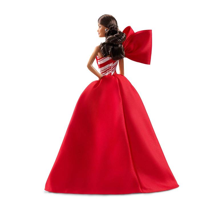 Лялька Барбі колекційна Святкова Barbie 2019 Holiday Doll, Brunette Side Ponytail