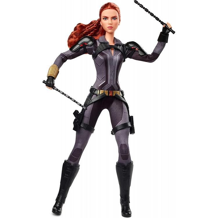 Лялька Барбі колекційна Марвел Чорна вдова Barbie Marvel's Black Widow Doll