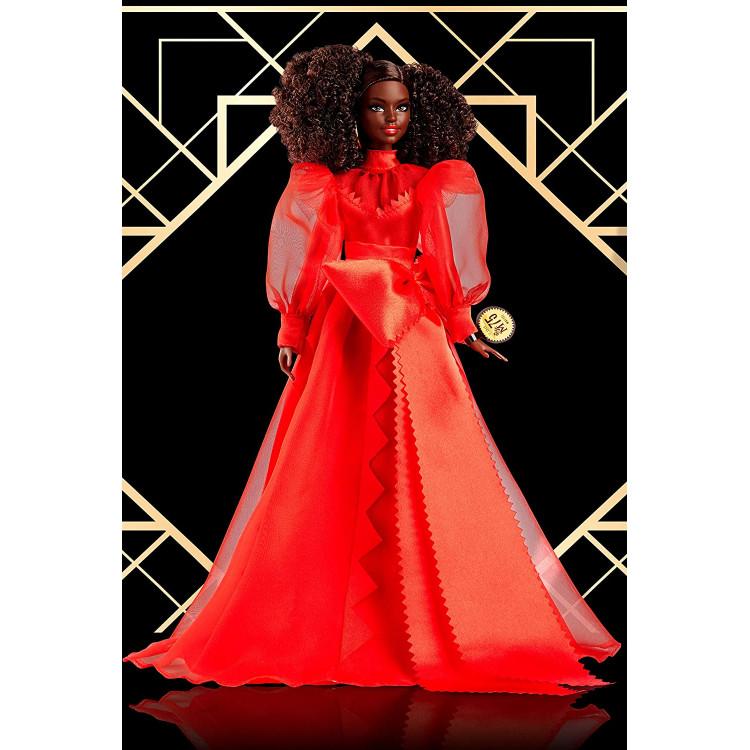 Кукла Барби коллекционная 75-летие Mattel Barbie Collector 75th Anniversary Doll in Red Chiffon Gown, Brunette