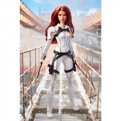 Кукла Барби коллекционная Марвел Чёрная вдова в белом Barbie Marvel Studios Black Widow White Suit Doll