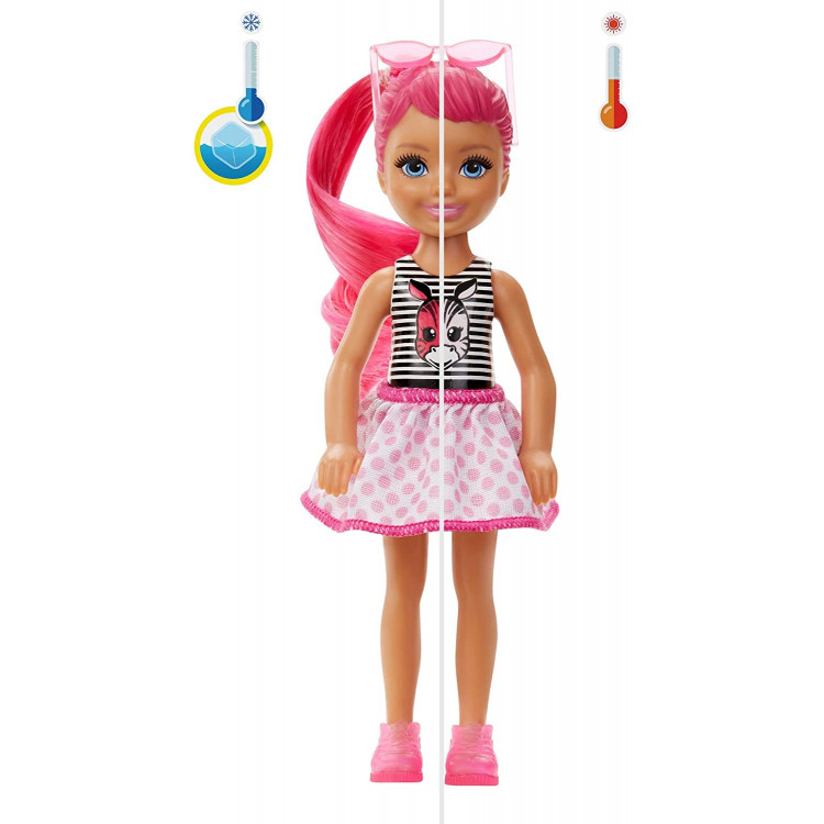 Лялька Барбі Челсі Сюрприз Кольорове перевтілення Barbie Color Reveal Chelsea Color-Block Series Doll