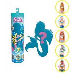 Кукла Барби русалка Сюрприз Цветное перевоплощение Barbie Color Reveal Mermaid Doll with 7 Surprises