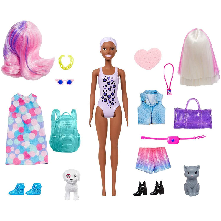 Лялька Барбі Сюрприз Кольорове перевтілення День та Ніч Barbie Color Reveal Doll Day-to-Night Transformation Carnival to Concert with 25 Surprises