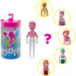 Кукла Барби Челси Сюрприз Цветное перевоплощение Barbie Color Reveal Chelsea Color-Block Series Doll