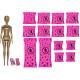 Кукла Барби Сюрприз Цветное перевоплощение День и ночь Barbie Color Reveal Doll Day-to-Night Transformation Carnival to Concert with 25 Surprises