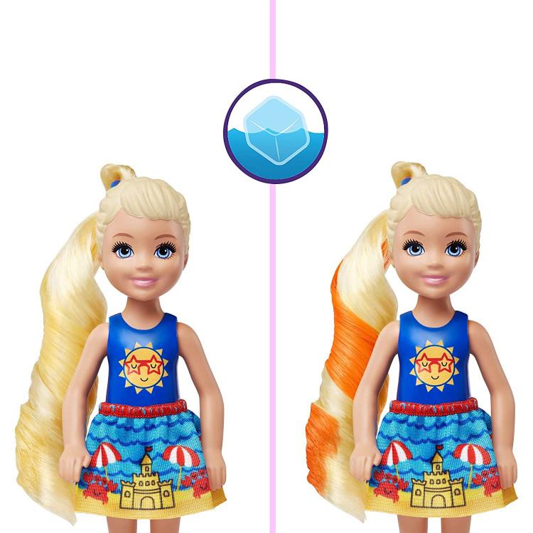 Лялька Барбі Челсі Сюрприз Кольорове перевтілення Barbie Color Reveal Chelsea Doll Sunny N' Cool beach Series