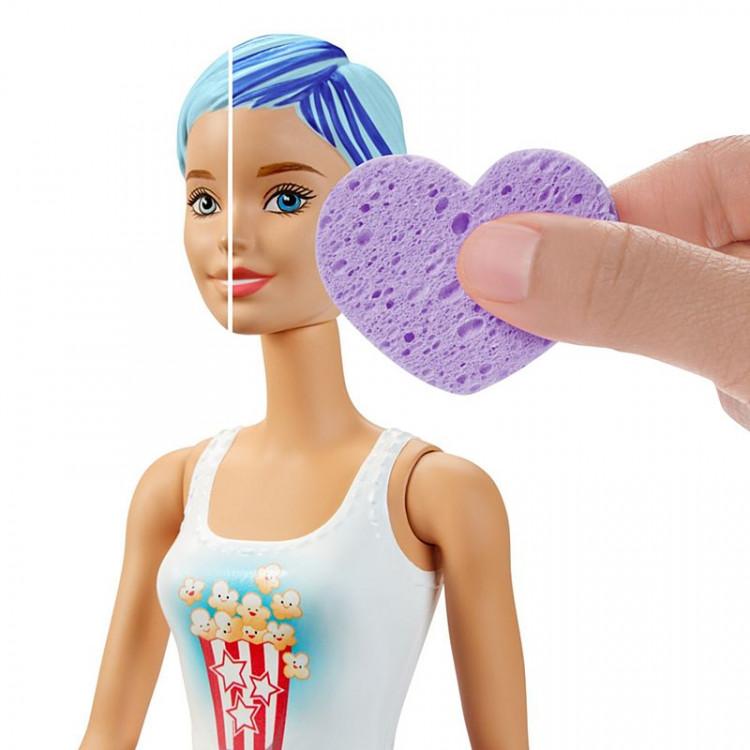 Кукла Барби Сюрприз Цветное перевоплощение Barbie Color Reveal Foodie Series Doll with 7 Surprises Including Scented Wig