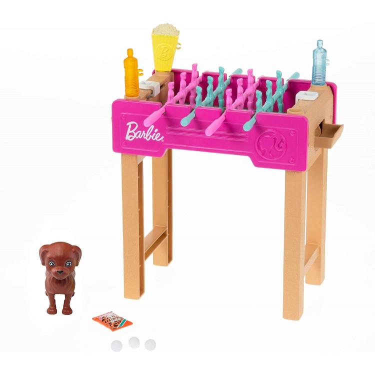 Игровой набор Барби Настольный футбол Barbie Working Foosball Table Playset with Pet, Game Night Theme