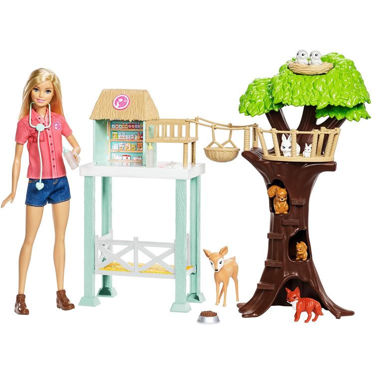 Барбі центр рятування тварин Barbie Animal Rescuer Center Doll Playset