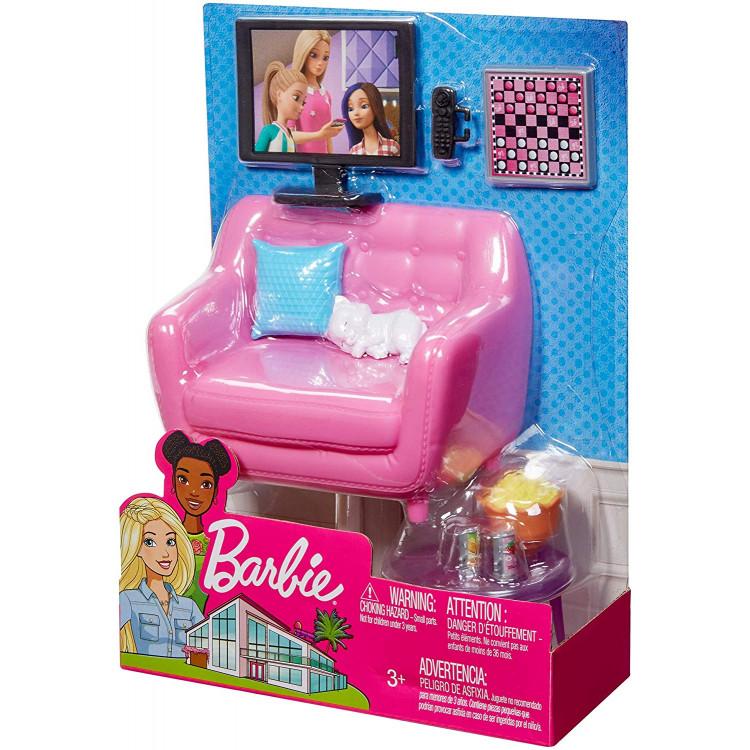 Ігровий набір Барбі Вітальня Barbie Movie Night Playset