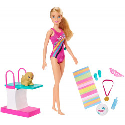 Кукла Барби Тренировка в бассейне Barbie Dreamhouse Adventures Swim 'n Dive Doll