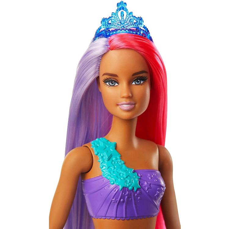 Лялька Барбі Дрімтопія Русалонька з рожево-бузковим волоссям Barbie Dreamtopia Mermaid Doll, Pink and Purple Hair
