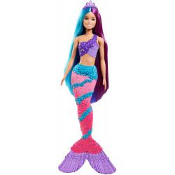 Лялька Барбі Дрімтопія Русалонька з довгим волоссям Barbie Dreamtopia Mermaid Doll with Extra-Long Two-Tone Fantasy Hair