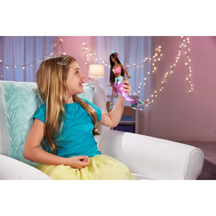 Кукла Барби Мерцающая русалочка Дримтопия Barbie Dreamtopia Sparkle Lights Mermaid Doll, Brunette