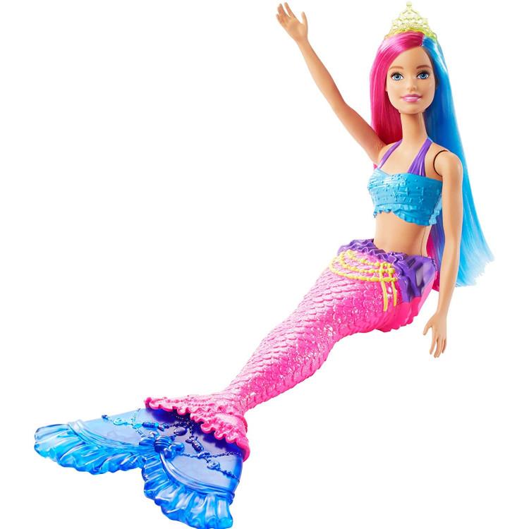 Лялька Барбі Дрімтопія Русалонька з малиново-блакитним волоссям Barbie Dreamtopia Mermaid Doll, Pink and Blue Hair
