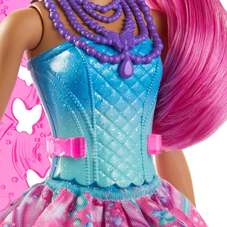 Лялька Барбі Дрімтопія Фея з малиновим волоссям Barbie Dreamtopia Fairy Doll, Pink Hair and Wings