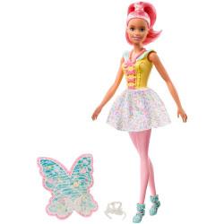 Лялька Барбі Дрімтопія Фея з рожевим волоссям Barbie Dreamtopia Fairy Doll, Pink Hair
