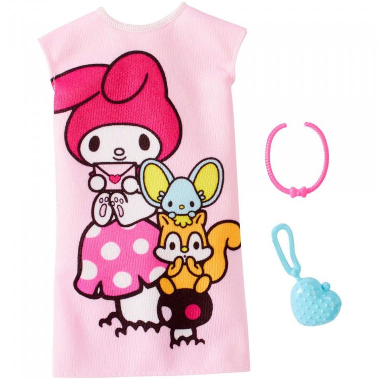 Барбі Одяг Barbie Hello Kitty My Melody Pink Dress Fashion Pack