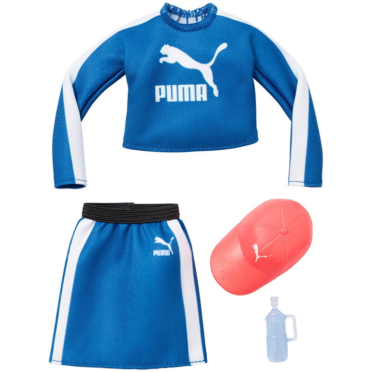 Барбі Одяг Barbie PUMA Blue Top, Skirt & Hat Fashion Pack