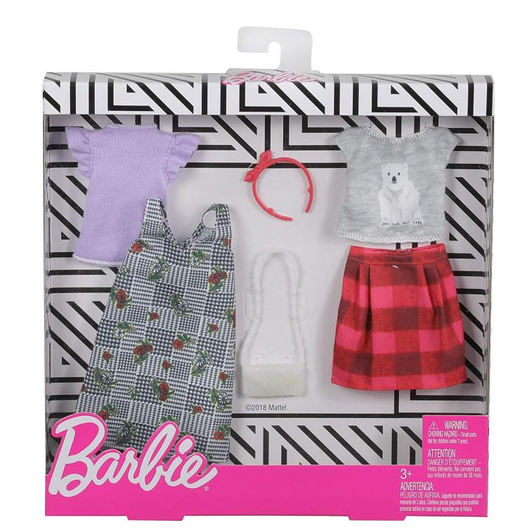 Барбі Одяг Barbie Fashion, Mix Checks and Nature,2 count