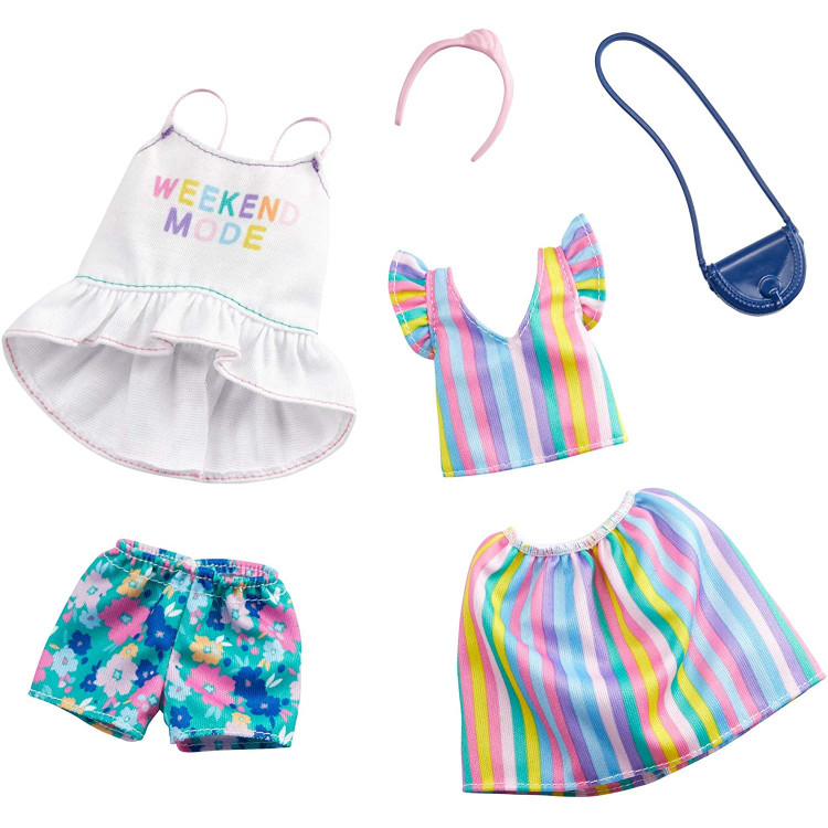 Барбі Одяг Barbie Floral & Striped Fashions Outfits 2 Pack