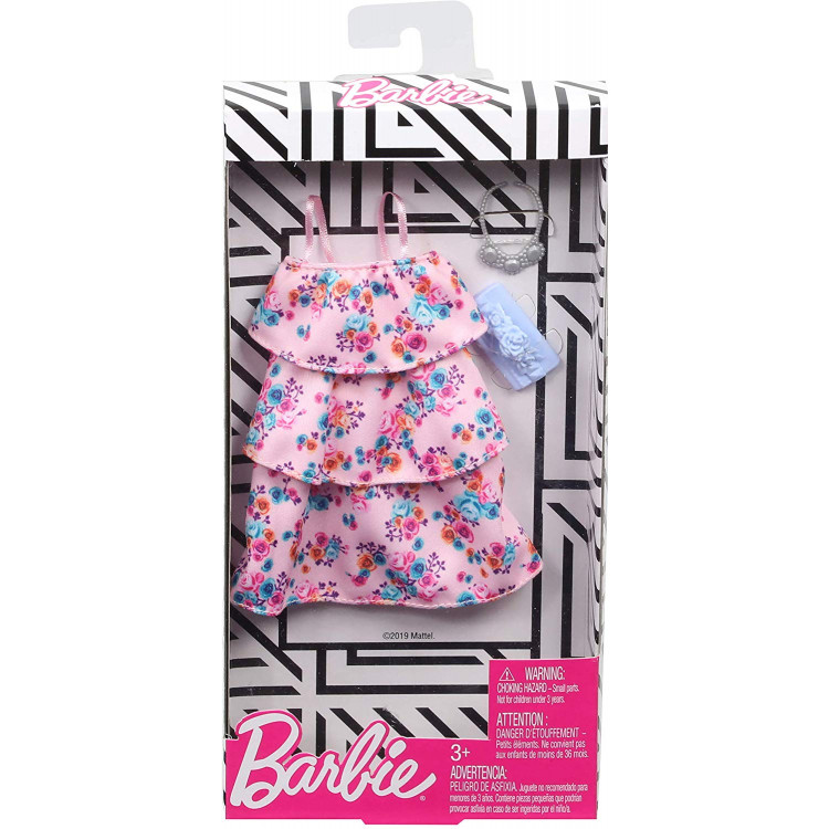 Барбі Одяг Barbie Pink Floral Dress Fashion Pack