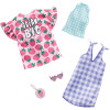 Барбі Одяг Barbie Dream Big Dress & Checkered Top Fashions Outfits 2 Pack