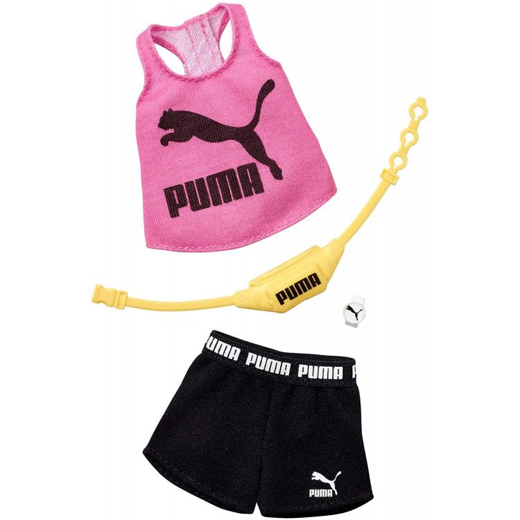 Барбі Одяг Barbie PUMA Pink Tank & Black Shorts Fashion Pack